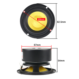 Image 5 - GHXAMP 3 INCH 4OHM 25W Midrange Woofer Bass Speakers Glass Fiber For Home Theater PC Desktop Bluetooth Protable Audio 2pcs