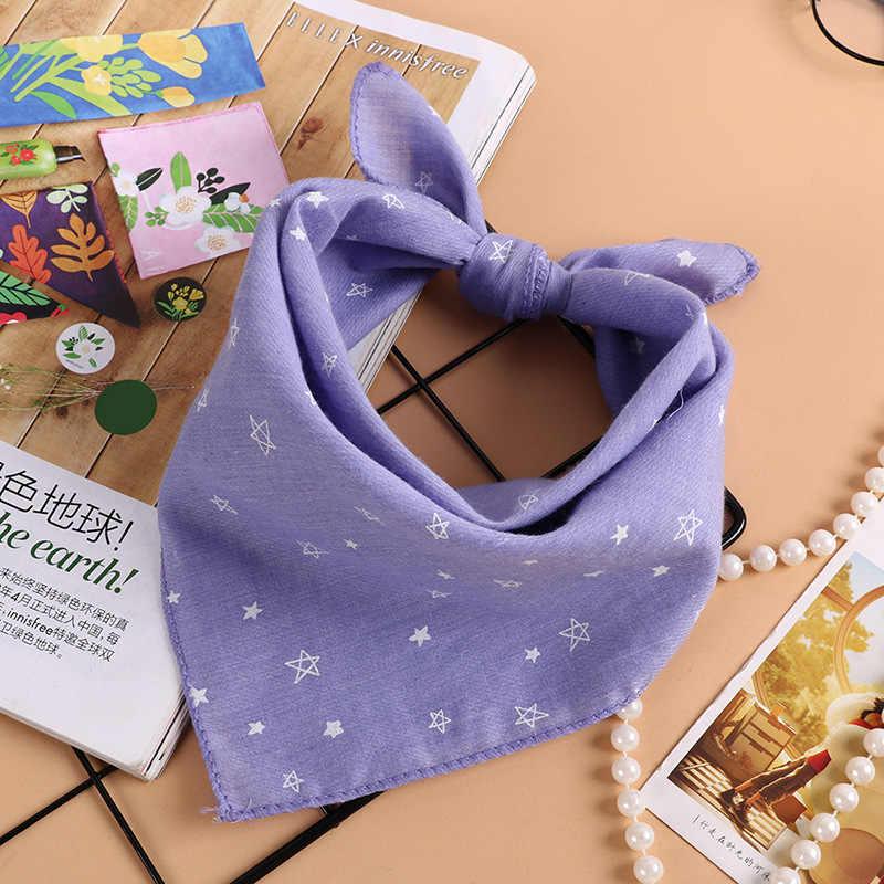 Новинка 2018 года; шарфы для мальчиков и девочек; сезон весна-осень; Детский шарф из хлопка и льна с принтом звезды; шейный нагрудник для детей