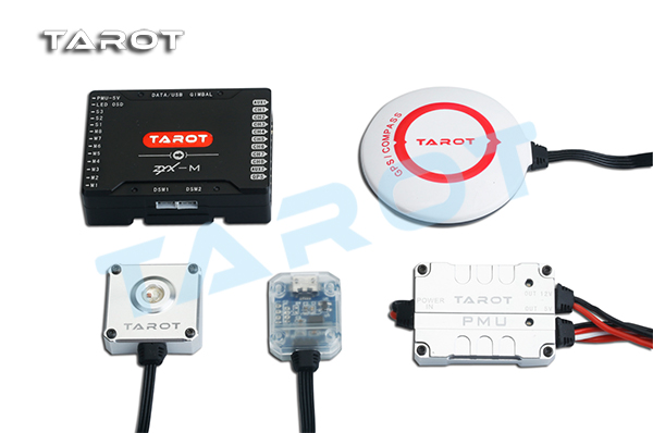 The Tarot ZYX-M Flight Controller for multi-copter ZYX25 supports dual S-BUS receivers GPS, PMU, USB tarot zyx bd 2 4g bluetooth data transmission module with 5 8g antenna for zyx m flight controller quadcopter drone rc fpv zyx27