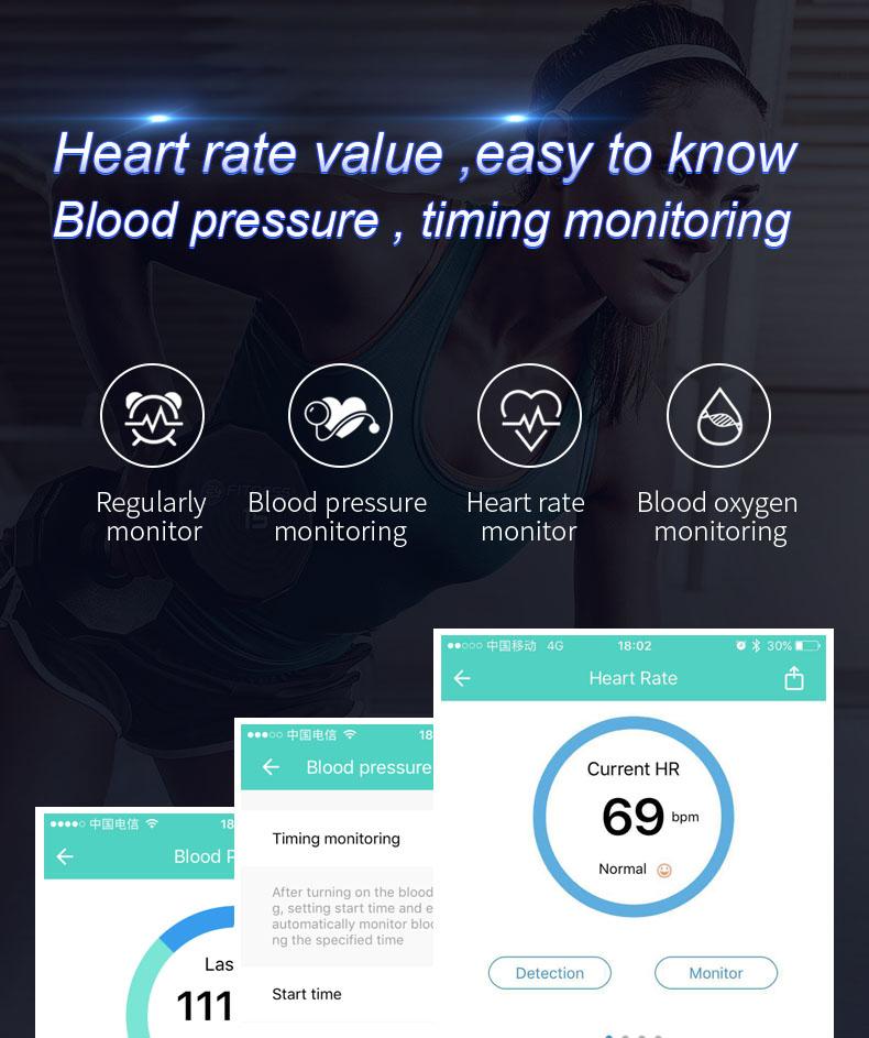 Buy Generic Color Screen Smart Bracelet Heart Rate Fatigue Monitor