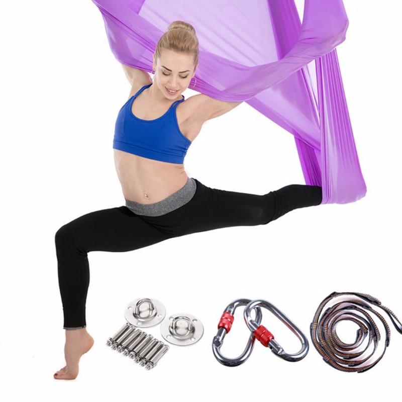 ✔  15 цветов 5 метров Aerial Yoga Гамак Swing Последние Многофункциональные антигравитационные ремни Yo ★