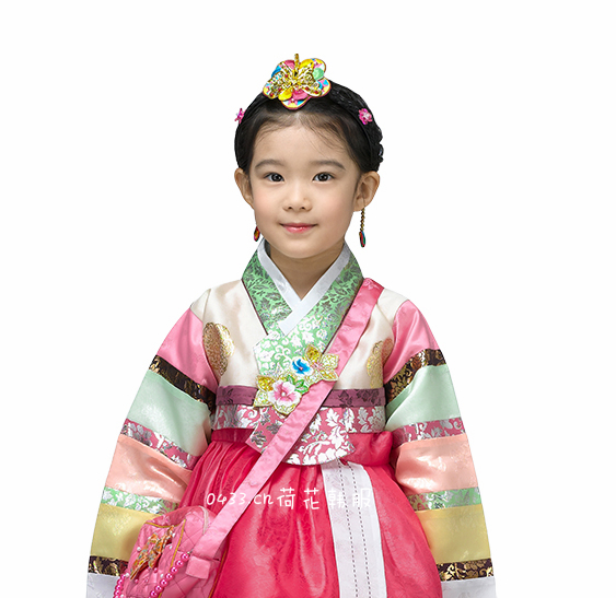 New Baby Girls Traditional Korean Hanbok Fashion Style Dress Cotton Long Sleeve Child Asian Clothing