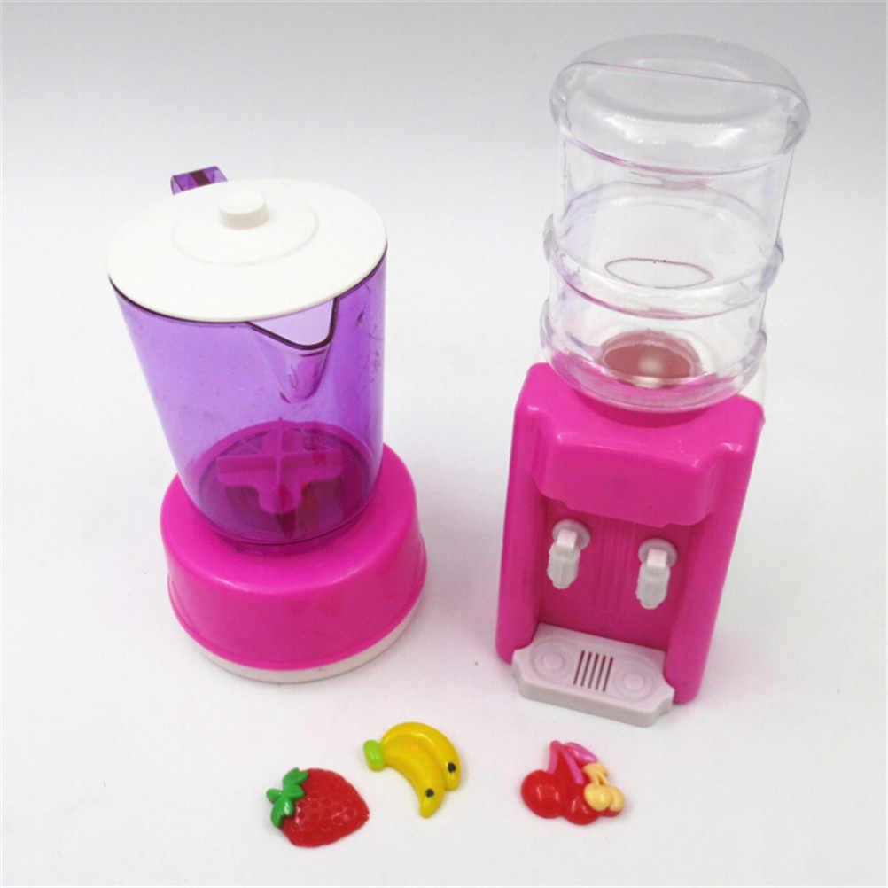 1 Set di Plastica Mini Distributore di Acqua Spremiagrumi FAI DA TE Giocattoli Casa Delle Bambole Cucina di Casa Mobili Giocattolo Per Barbie Dolls Accessori