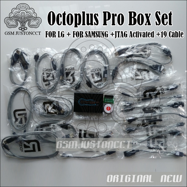 2018 Newest versions Octoplus Pro Box with 19 cables work for Samsung and for LG+Medua JTAG Activation mobile phone adapters