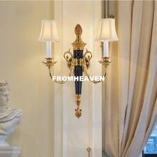 Бесплатная доставка настенный медный светильник во французском