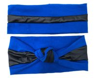 S175107 2017 New Patchwork Hairband Cotton Pu Stripe Classic Series Hair Accessory For Women Headband Manufacturer