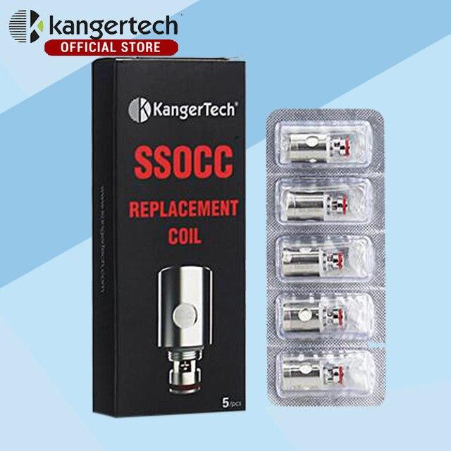 20 шт./лот kangertech субтанке вертикальные ssocc органического хлопка ssocc катушки подходят для kanger субтанке 0.5ohm 1.2ohm 1.5ohm
