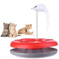 Chat jouets printemps souris fou Amusement disque activité de jeu animal de compagnie jouets drôles chaton interactif Teaser produits pour animaux de compagnie jouets pour chats