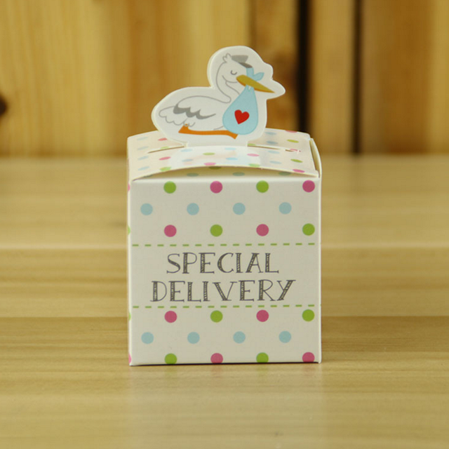 20pcs Set Cute Mini Special Delivery Duck Candy Box For Children Colorful Dot Baby Shower