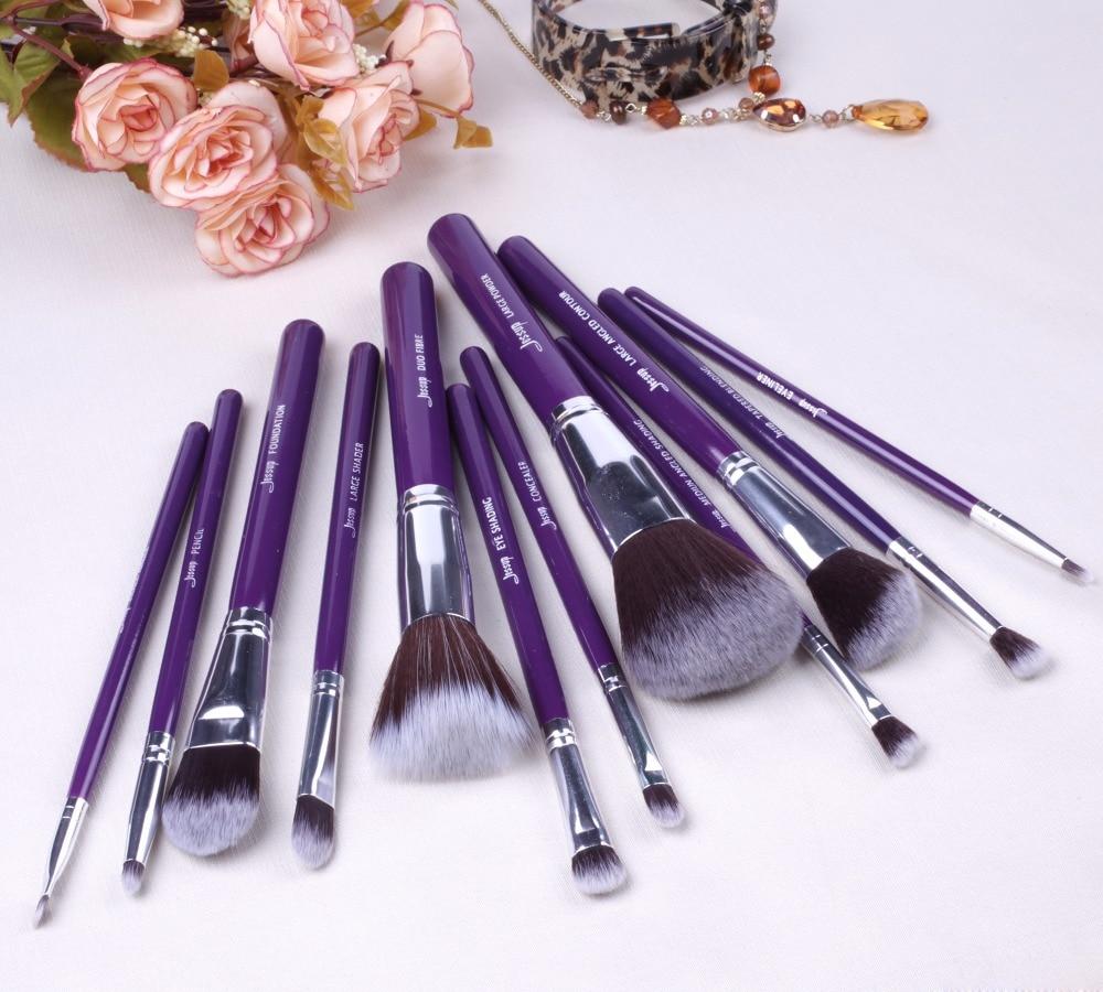 2017 jessup brushes 12pcs Pro Makeup Cosmetic Set Eyeshadow Foundation Wood Brush Blusher Tools T087