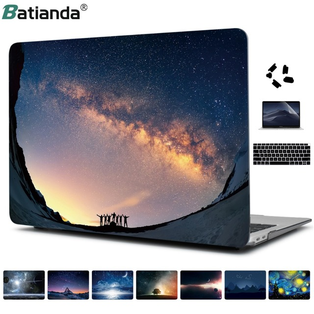 Print Crystal Clear Hard Case for 2016 2017 2018 New Macbook Pro Retina 13 15 A1706 A1989 Touch Bar Cover Air 11 13.3 inch A1932