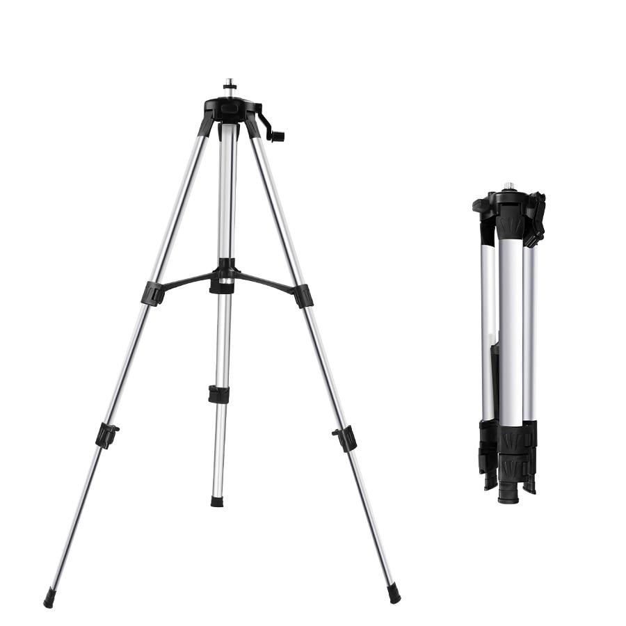 Tripé com altura ajustável e nivelada a laser, suporte resistente de para autonivelamento, 1,2m/ 1,5m