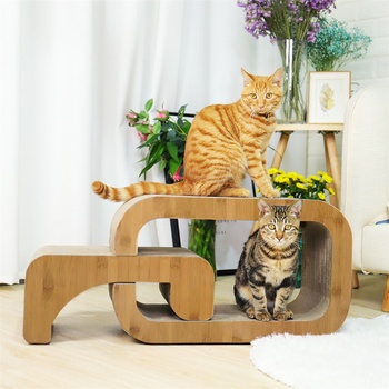 Domestic Delivery Kitten Love! Fun Pet Cat Climbing Frame Animal House Brown Furniture Dual Use Novel Design Luxury Cat Climbing