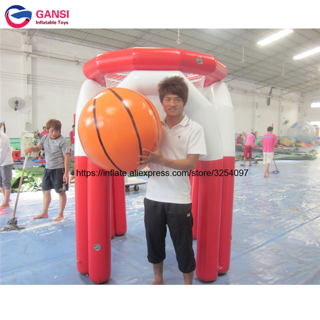 High quality indoor inflatable basketball hoop for sport game 2m height lows price inflatable basketball shooting game equipment