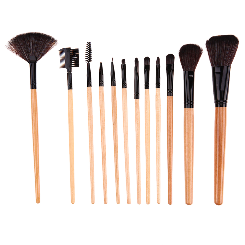 12pcs Professional Makeup Brushes Set Cosmetic Foundation Powder Blush Eyeliner Brush Pincel Maquiagem with Make up Brushes Bag maquiagem professional foundation makeup brush wooden soft hair round powder blush make up brushes cosmetic tool high quality