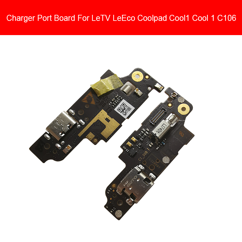 Microphone & Charger USB Jack Dock Board For Coolpad Cool1 Cool 1 Dual C106 Charging Port Module Usb Connector Port Board