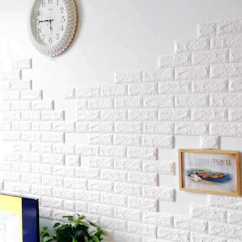 70x77cm 3d Board Wall Brick Panel Bricks Pattern Self Adhesive Wall Paneling Waterproof Diyl Sticker For Living Room Stickers For Sticker For Living Roomwall Pattern Aliexpress