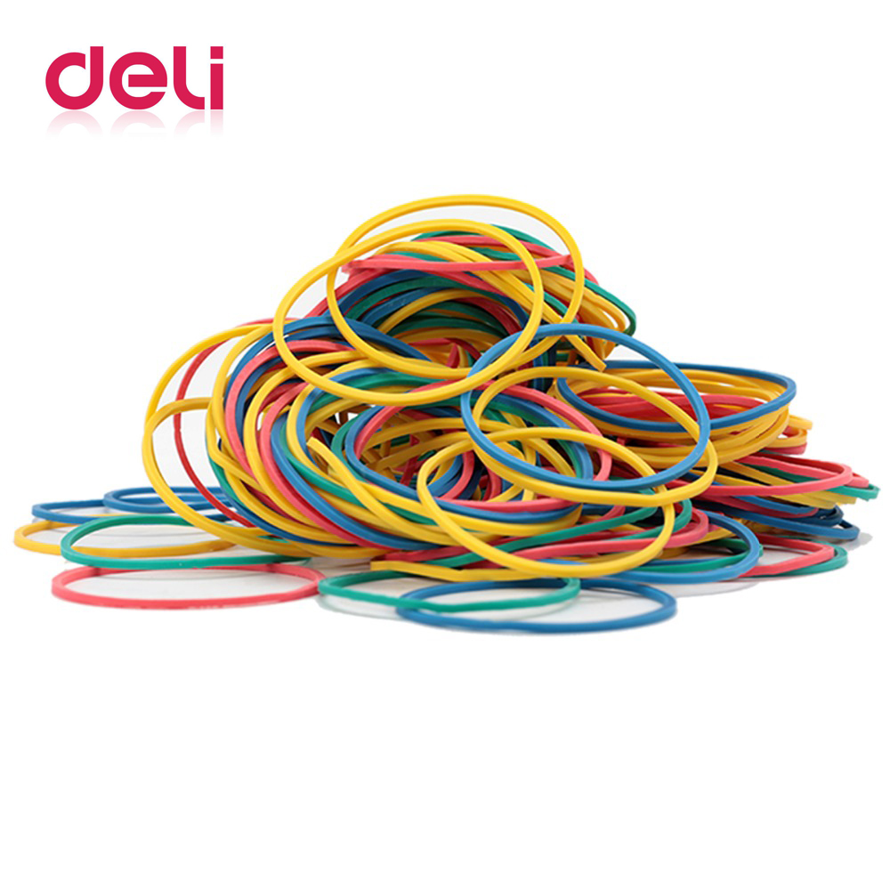 Купить с кэшбэком Deli 1 pakage color rubber band office circle type elastic rubber belt financial office strapping supplies 3219 rubber ring