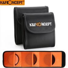 K & F KONZEPT 3 Taschen objektiv kamera Filter Beutel Filter Brieftasche Fall Für 49mm bis 77mm UV CPL FLD ND Caemra Objektiv Filter Halter Tasche