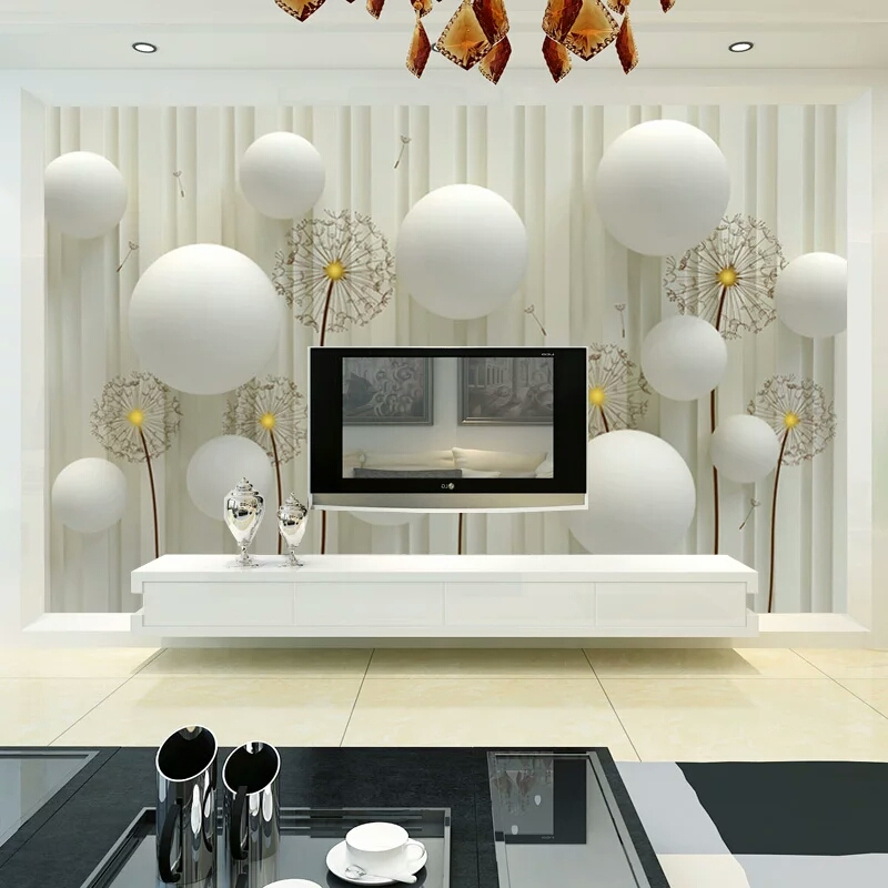Beibehang Circle Dandelion Customized Any Size Murals Photo Wallpaper Roll Tv Background Wall Paper 3d Wallpaper Seamless Murals