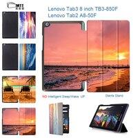 MTT Seascape Print PU Leather Cover For Lenovo Tab 2 A8 50 A8 50F A8 50LC