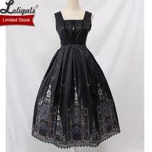 Gótico Lolita JSK vestido Iglesia impreso sin mangas Midi vestido de fiesta por Alice Girl Limited stock