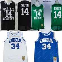 #34 Jesus Shuttlesworth Lincoln High School He Got Game The Fresh Prince of Bel-Air #14 Will Smith Bel Air Academy jersey