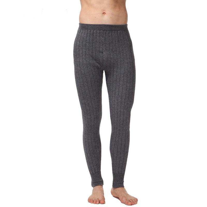 f2aa08e0eaa75 Ventes chaudes 2018 Nouveau style Hommes de Pantalons Chauds Cachemire laine  Tricoté Caleçon Long Spandex Collants Sous-Vêtements Thermiques Sexy  Livraison ...
