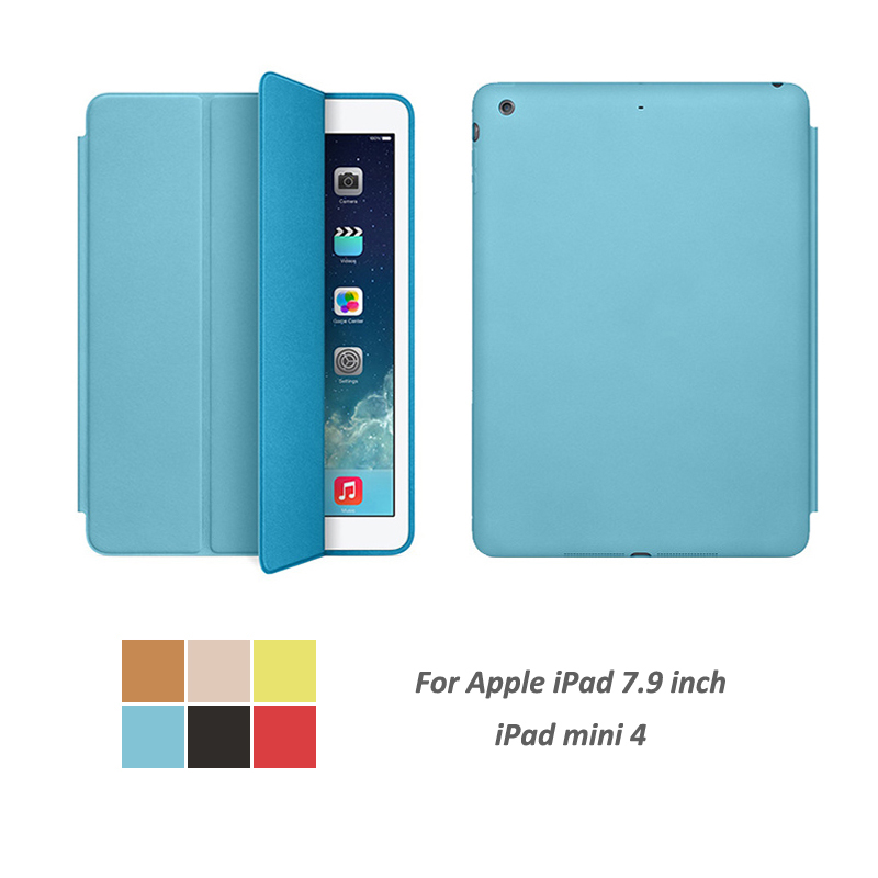 Case Auto Sleep / Wake Up Slim Cover For ipad Mini4 Smart Stand Holder Folio Protect Case For Apple ipad Mini 4 7.9 inch case for apple ipad mini 4 szegychx original 1 1 ultra slim smart cover stand for ipad case auto wake sleep with logo
