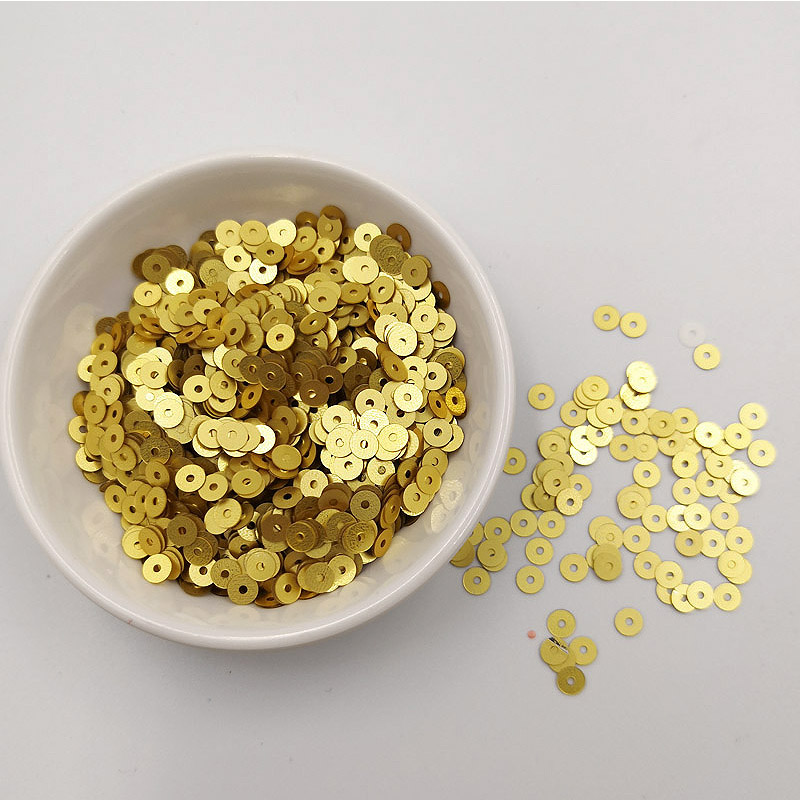 20g pack 4mm Loose Sequin PVC Flat Round PVC Polish Sequins Paillettes Sewing Craft For Wedding Garment Dress Shoe DIY Accessory in Sequins from Home Garden