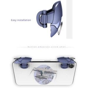 Image 4 - Azul shark design pubg telefone inteligente móvel gaming trigger pubg controlador móvel fogo/aim botão l1 r1 shooter joystick gamepad