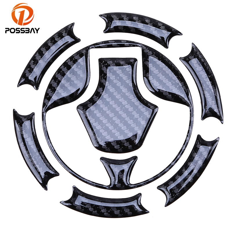3D Carbon Fiber Gas Cap Tank Cover Pad Sticker For Kawasaki Ninja ZX6R 2000-2007