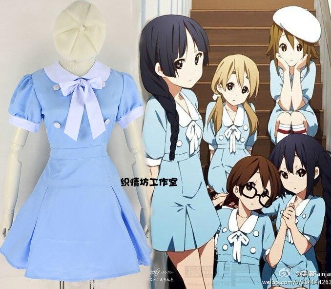 Shirakiin Riricho Cos Halloween Anime Inu x Boku SS K ON Cosplay Female Woman Cartoon Lolita Blue Dress Cosplay Costume