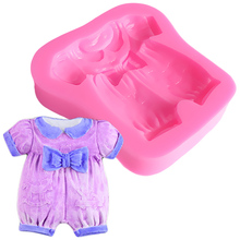 Mini Clothes Shape Silicone Mold Cake Stencils For Cakes Baking Form Soap Tools Decoration Candy