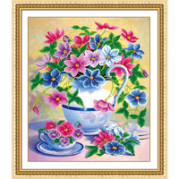 DIY 5D Diamond Embroidery Flowers Diamond Painting Cross Stitch Landscape Mosaic Picture Of Rhinestone Drill Home