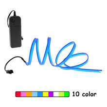 EL Wire lights 6mm Sewing Edge Neon Light Dance Party Car Decor Flexible Rope Tube LED Strip With Controlle
