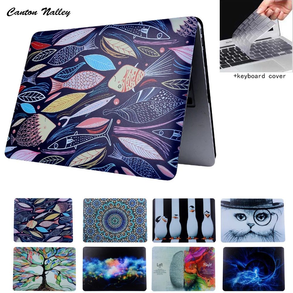 CantonNalle Oil Printing Drawing Hard Case For Macbook Air 11 12 13 Pro13 15 with Retina Case laptop Matte shell Protective Bag