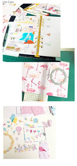 Online Shop Dokibook Cute Kawaii Desigener Paper Diy Accessories