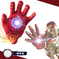 2016 New Cosplay Avengers Toy Cartoon Interesting Iron Man Glove Emitter Flash Sound Action Figure Toys For Children Gifts