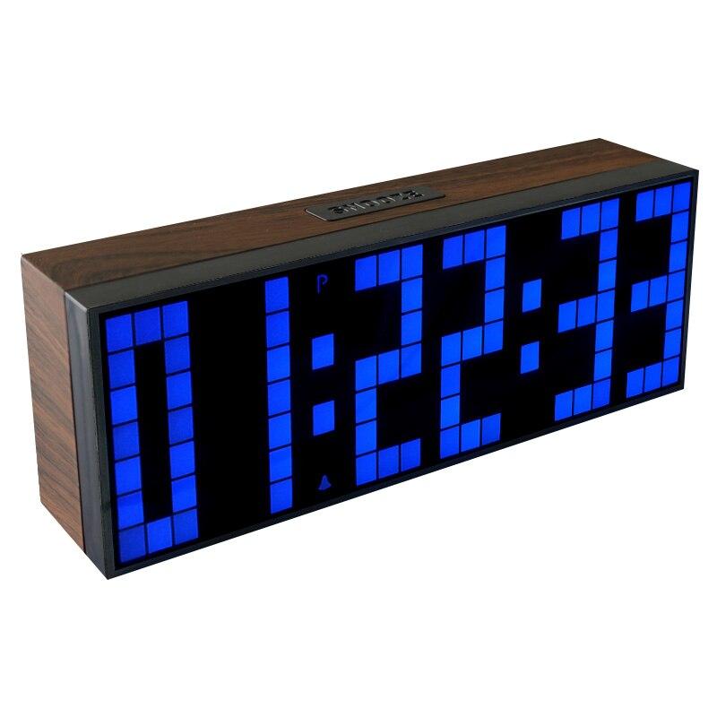Réveil électrique en bois Design Antique sur Table de bureau affichage minuterie thermomètre compte à rebours horloge en bois cadeau de noël