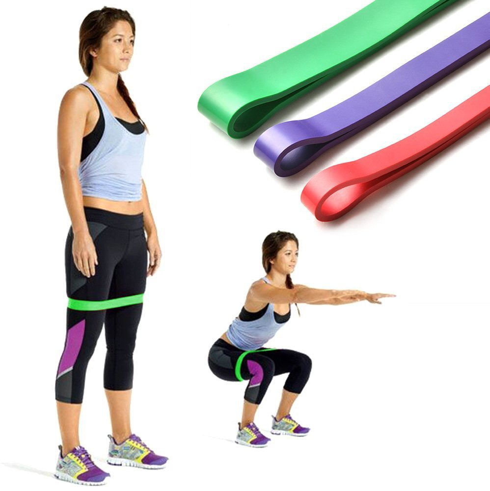 Strip-shaped 10lb -80lb rubber gum fitness bands for sport training Exercise hip yoga resistance bands Expander Elastic band