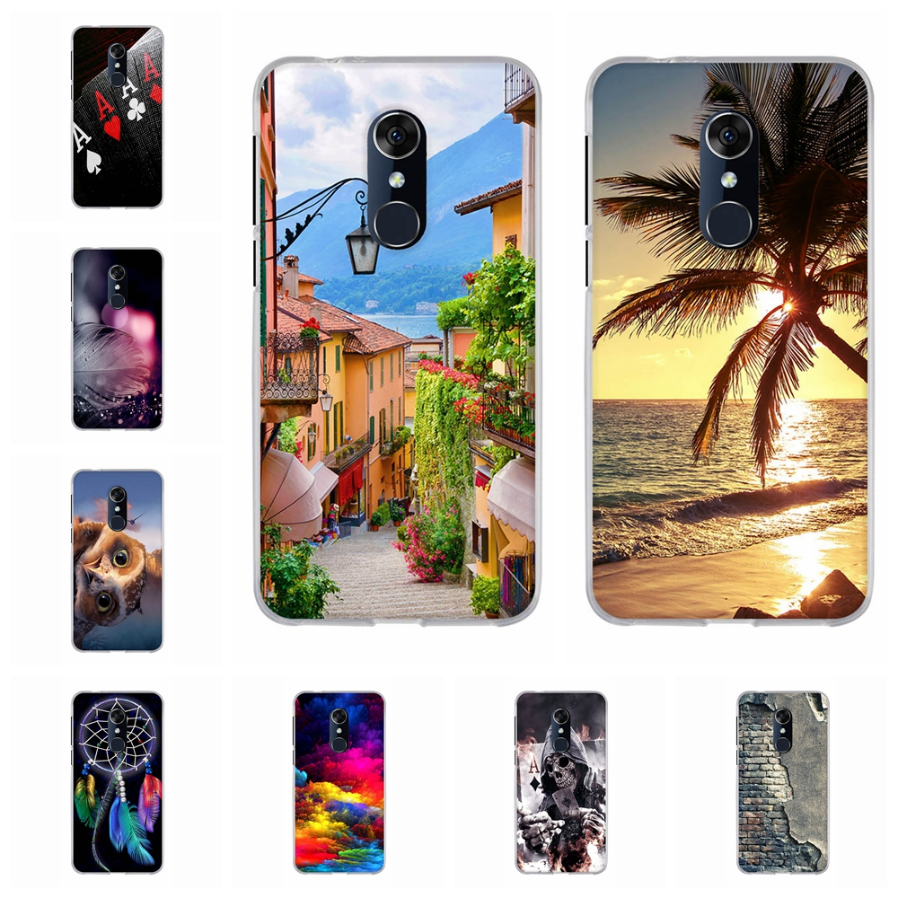 For Alcatel 3 3L Cover Soft TPU Silicone For Alcatel 3L 5034D 5052Y 5052D Phone Case City Patterned For Alcatel 3L Shell Capa