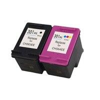 Vilaxh 2pcs Ink Cartridge for hp 301 xl For HP Deskjet 1050 2050 2050s 3050 Envy 4500 4502 4504 5530 5532 5539 printer hp301 xl