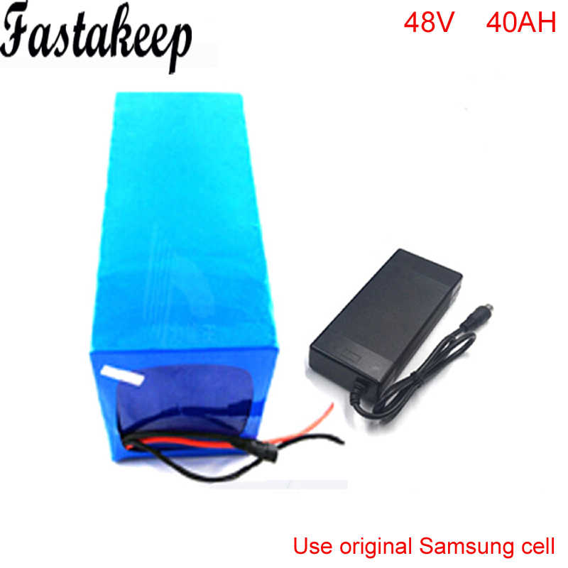 48V 40AH Lithium Battery Electric Bicycle Scooter 48V 2000W Solar  ebike Lithium-ion  AKKU  battery For Samsung cell
