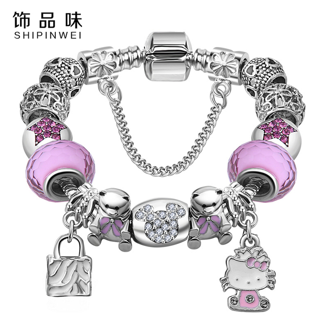 Cat Kitty Charms Bracelet