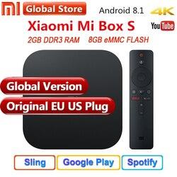 Original Global Xiaomi Mi TV Box S 3 4K HDR Android 8.1 Ultra HD 2G 8G WIFI Google Cast Netflix IPTV Set top Box 4 Media Player