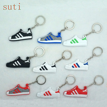 Mini Silicone shoe Keychain Bag Charm Woman Men Kids Key Ring Gifts Sneaker Key Holder Pendant Accessories Shoes Key Chain