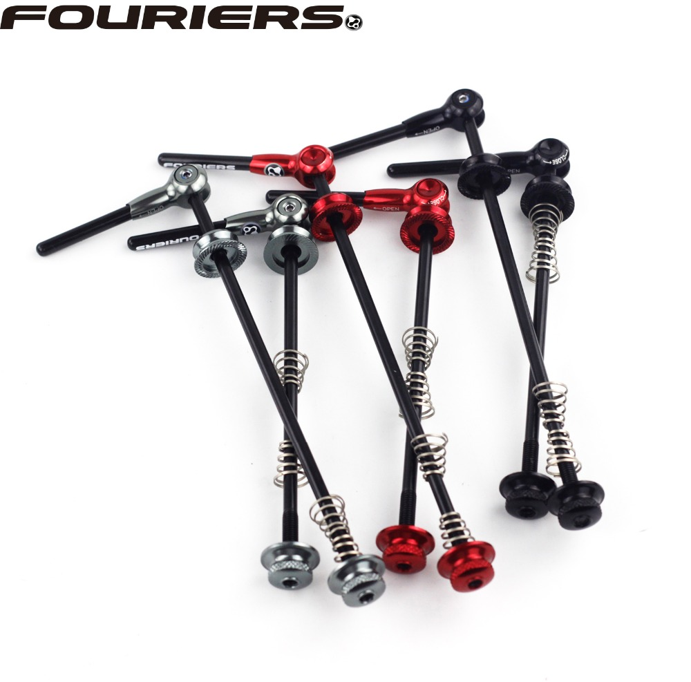 Fouriers Road MTB Quick Release Bike Hub Front & Rear Axle Hollow Alloy With Carbon Fiber Bicycle AccessoriesFouriers Road MTB Quick Release Bike Hub Front & Rear Axle Hollow Alloy With Carbon Fiber Bicycle Accessories