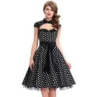 Classic Retro Evening Party Dress Sexy Pinup Swing Summer Dresses New Hollowed Tunic Vestido Rockabilly 50 Vintage Dresses Women