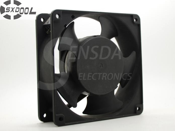 SXDOOL cooling fan 220V SJ1238HA2  120mm 12038 120*120*38 mm AC 220V-240V 50/60HZ 0.13 case axial metal frame original delta ffb1224she 12cm 120mm 12038 120 120 38mm 24v 1 20a cooling fan